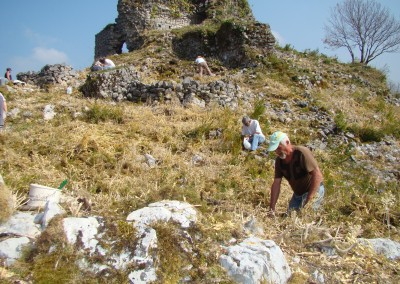 2012 : Compte-rendu Prospection Archéologique pour l'étude du château et de son territoire