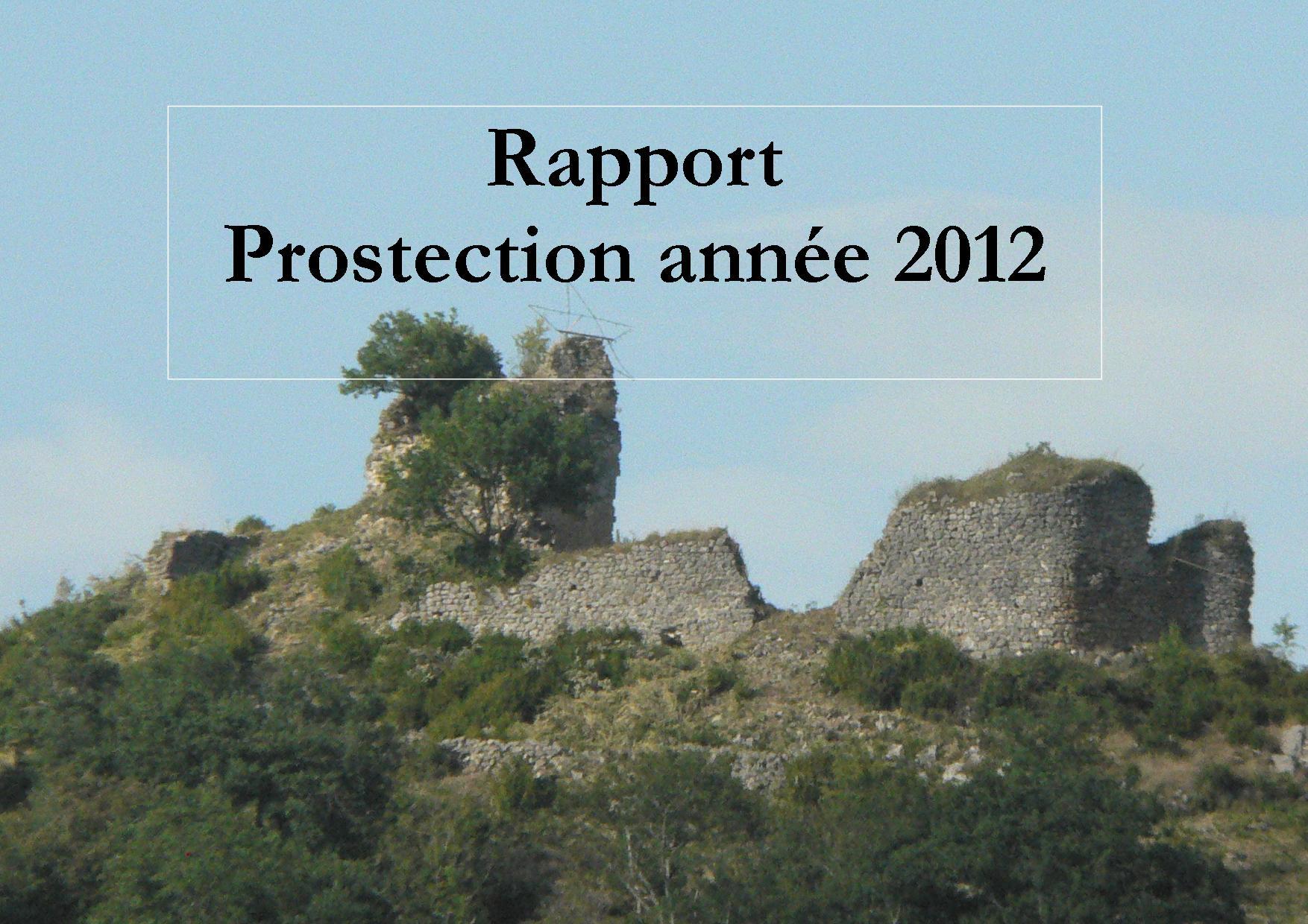 2012 : Rapport Prospection Archéologique pour l'étude du château et de son territoire