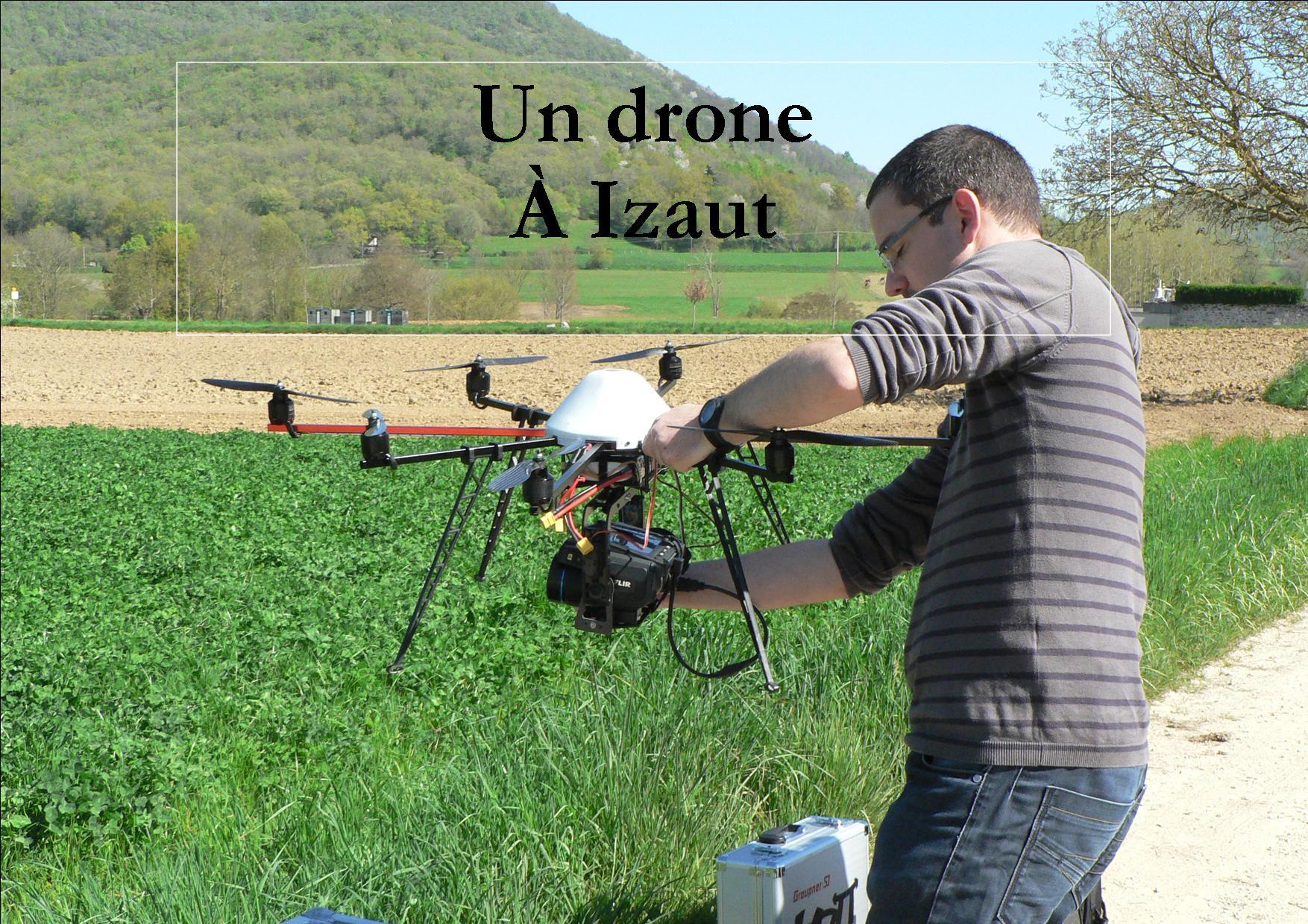 2014 Avril : Izaut-de-l'Hôtel. Un drone au château (La Dépêche du Midi)