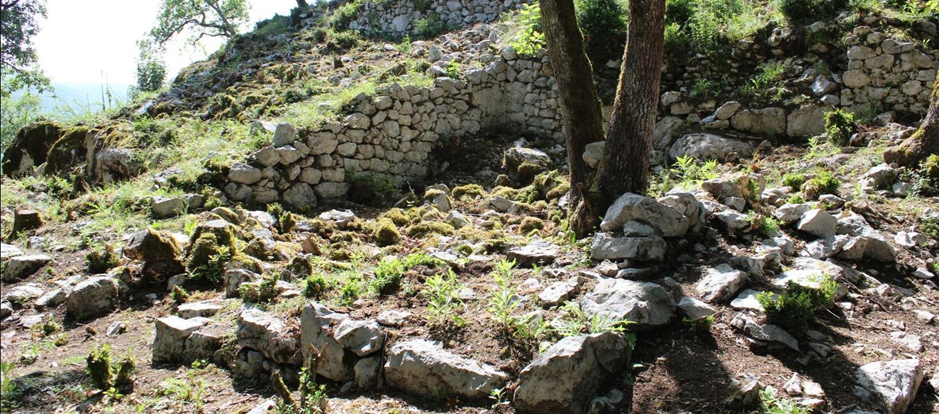 Fond de Maison du village médiéval