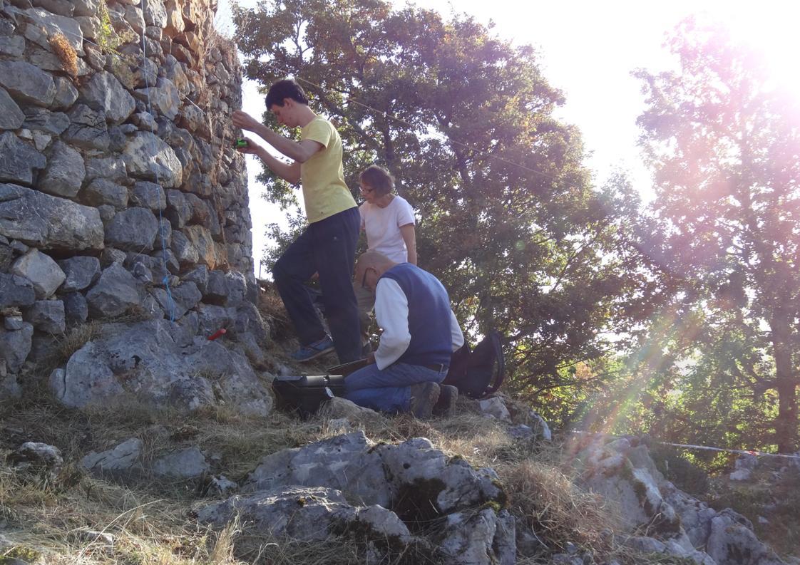 Relevé des pierresde la tour de flanquement