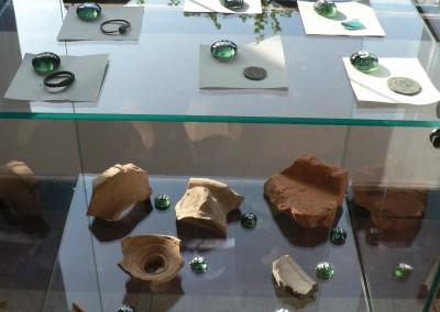 Exposition des matériels récoltés en prospections
