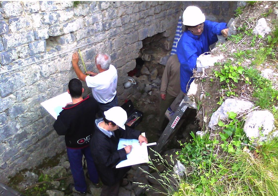Relevé du rez-de-chaussée de la tour