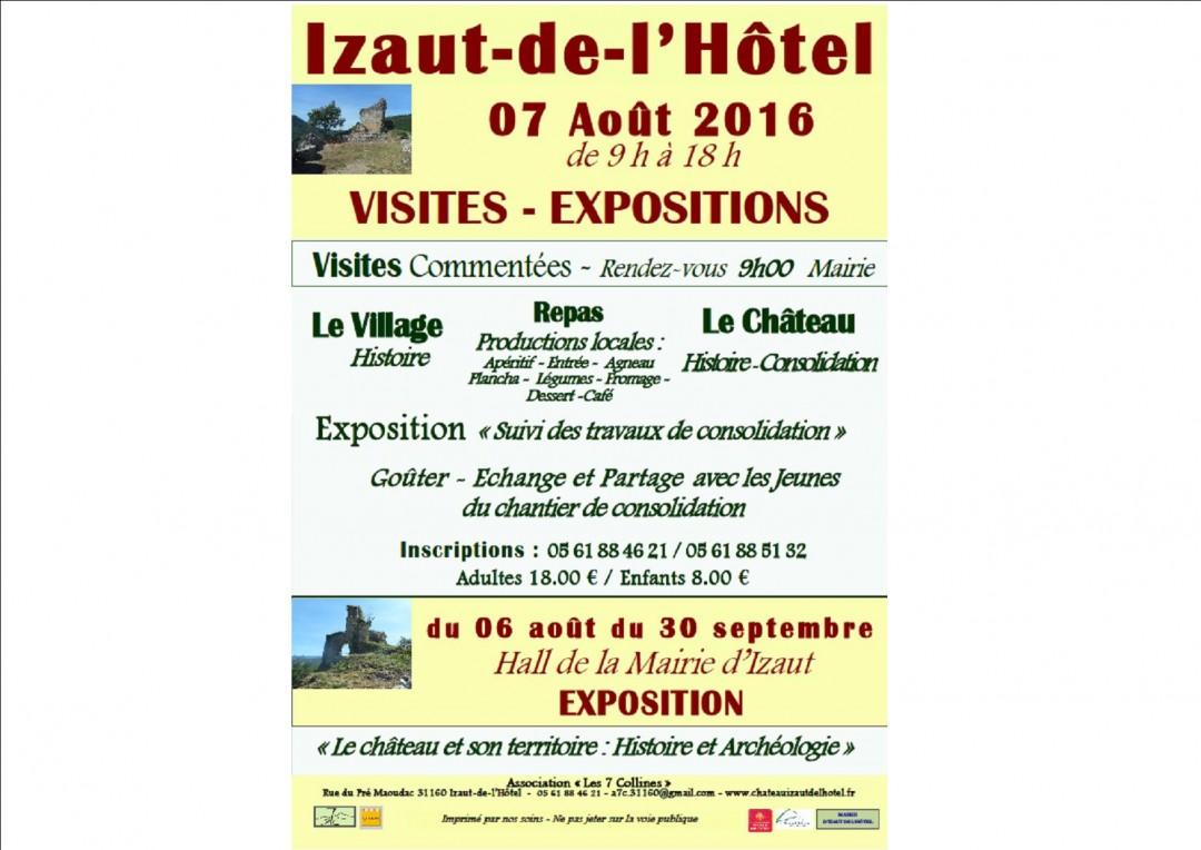 2016 Août : Journée à Izaut – Rencontres autour du château