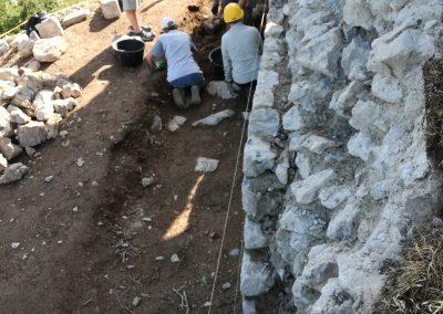 2017 : Chantier A7C «Dégagement des éboulis sous suivi archéologique»