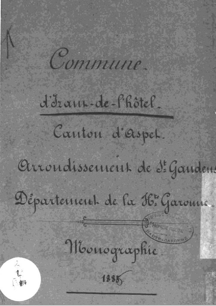 Monographie Izaut 1885