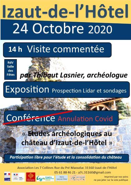 2020 : 24 Octobre Visite, Exposition et Conférence de fin d'année